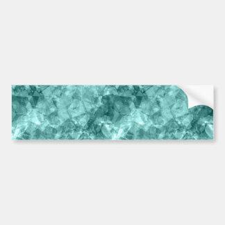 Teal Crumpled Texture Bumper Sticker