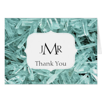 Teal Crystal 15th Anniversary Thank You Card