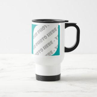 Teal Curves Photo Travel Mug - Create Your Own Mugs