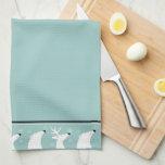 Teal Custom Christmas Kitchen Towel