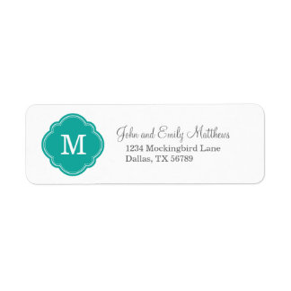 Teal Custom Personalized Monogram Label