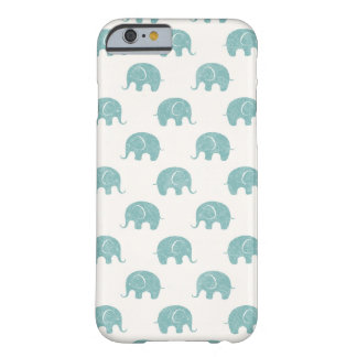 Teal Cute Elephant Pattern Barely There iPhone 6 Case