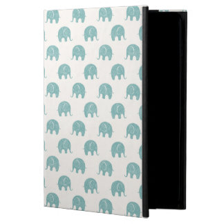 Teal Cute Elephant Pattern iPad Air Case