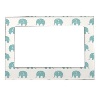 teal cute elephant pattern magnetic picture frame - Elephant Picture Frame