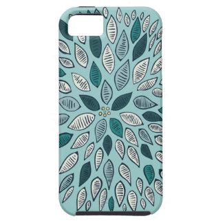 Teal Dahlia Flower iPhone 5 Cases