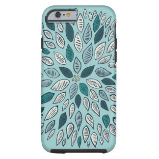 Teal Dahlia Flower iPhone 6 Case
