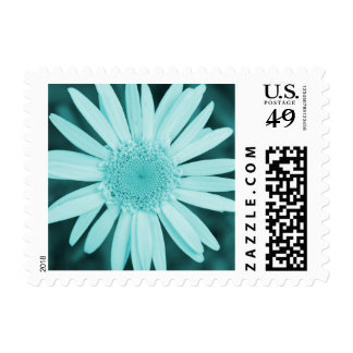 Teal Daisy Flower Customizable Postage