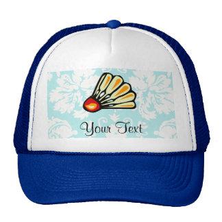 Teal Damask Badminton Trucker Hat