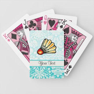 Teal Damask Badminton Deck Of Cards
