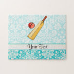 Teal Damask Cricket Puzzle