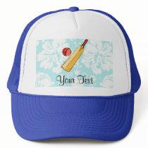 Teal Damask Cricket Trucker Hat