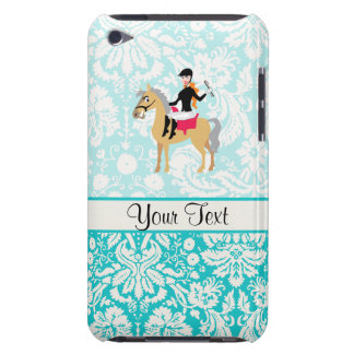 Teal Damask Equestrian iPod Case-Mate Cases