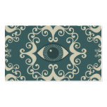 Teal Damask Eyeball Psychic Reader Cards Double-Sided Standard Business Cards (Pack Of 100)