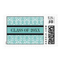 Teal Damask Graduation Custom Year Stamps