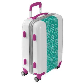 Teal Damask Luggage