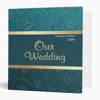 Teal Damask - Our Wedding Vinyl Binder