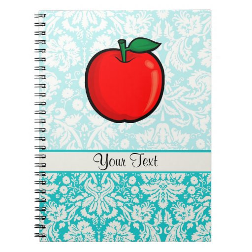 Teal Damask Pattern Apple Journal