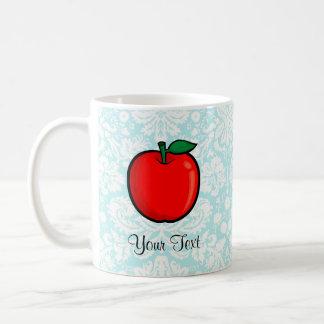Teal Damask Pattern Apple Mug