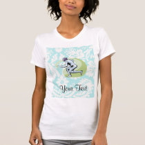 Teal Damask Pattern Fencing T-Shirt