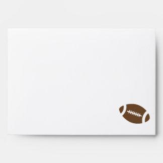 Teal Damask Pattern Football Envelopes