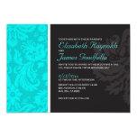 Teal Damask Wedding Invitations Custom Invites