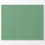 [ Thumbnail: Teal & Dark Khaki Pattern Wrapping Paper ]