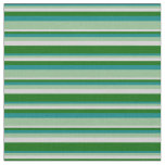 [ Thumbnail: Teal, Dark Sea Green, Light Gray, and Dark Green Fabric ]