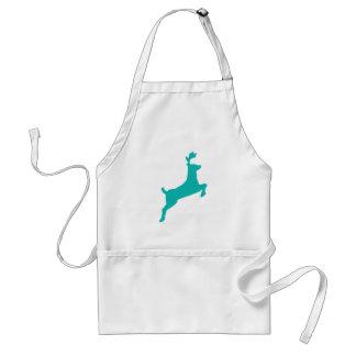 Teal deer adult apron