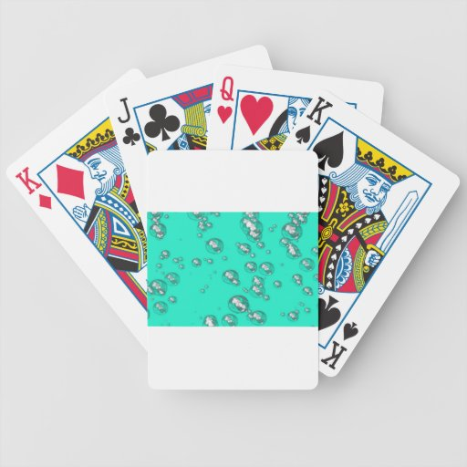 Teal Delight Bicycle Poker Cards