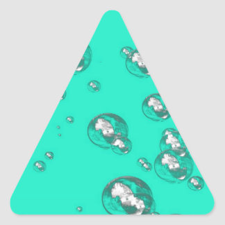 Teal Delight Triangle Sticker