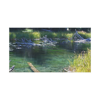Teal Deschutes River Oregon Gallery Wrapped Canvas