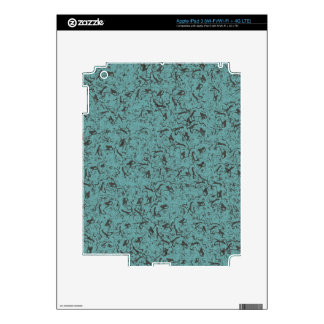 TEAL DESIGN DECAL FOR iPad 3