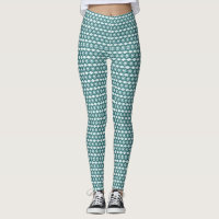 Teal Diamond Pattern Leggings