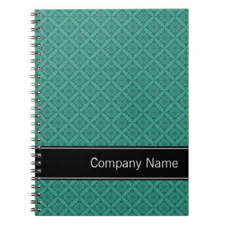 Teal Diamonds Pattern Personalized Notebook