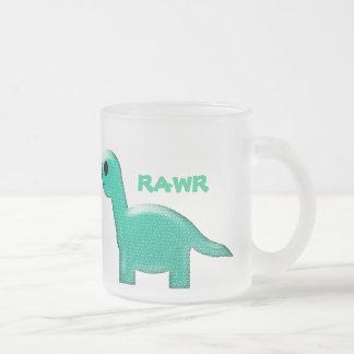 Teal Dinosaur Frosted Mug