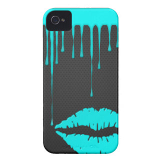 Teal Dip Lips Black BlackBerry Bold Case-Mate
