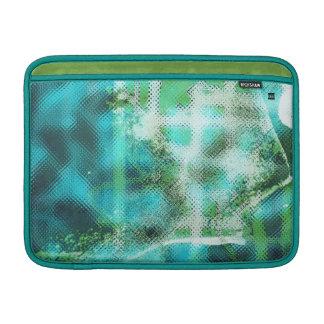 Teal Dirty Abstract Photo MacBook Air Sleeve