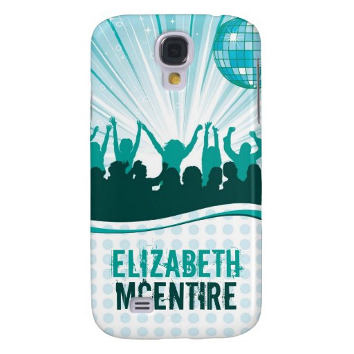 Teal DJ Spin Party Girl Personalized iPhone 3 Case