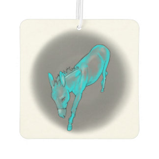 Teal Donkey air freshener in cucumber & fresh mint