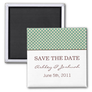 Teal Dots Design Save The Date Magnets