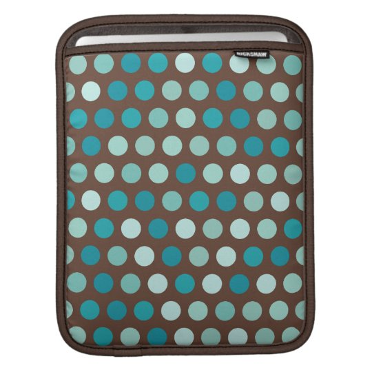 Teal Dots iPad Sleeve