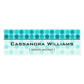 Teal Dots Network Micro Mini Business Cards