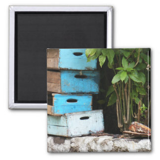 Teal Drawers 2 Inch Square Magnet