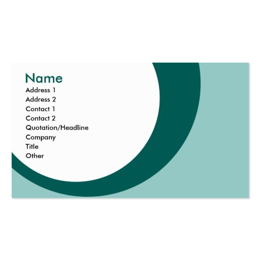 teal drip drops 2 sided business card