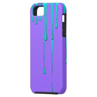 Teal Dripper Purple iPhone 5 Case-Mate Tough iPhone SE/5/5s Case