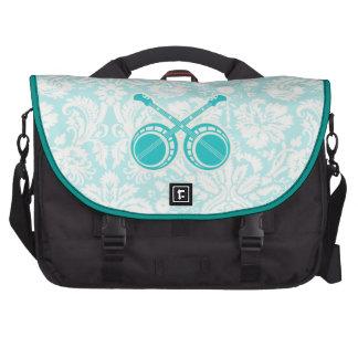 Teal Dueling Banjos Laptop Bag