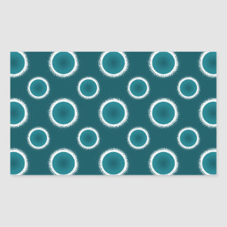 Teal Eclipse Rectangular Sticker