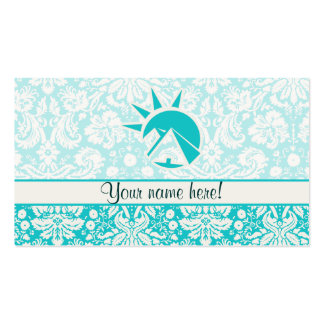 Teal Egyptian Pyramid Double-Sided Standard Business Cards (Pack Of 100)