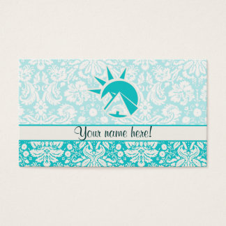 Teal Egyptian Pyramid Business Card