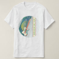 Teal Electric Guitar Moiré Retro Trippy Name T-Shirt